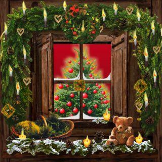 Decoration Noel Fenetre Lumineuse Cadeaux De Noel Populaires