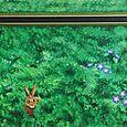 Lapin dans les buissons (détail)
