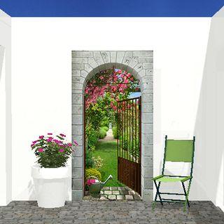 Deco blog creamint d cor ext rieur - Trompe l oeil exterieur jardin ...