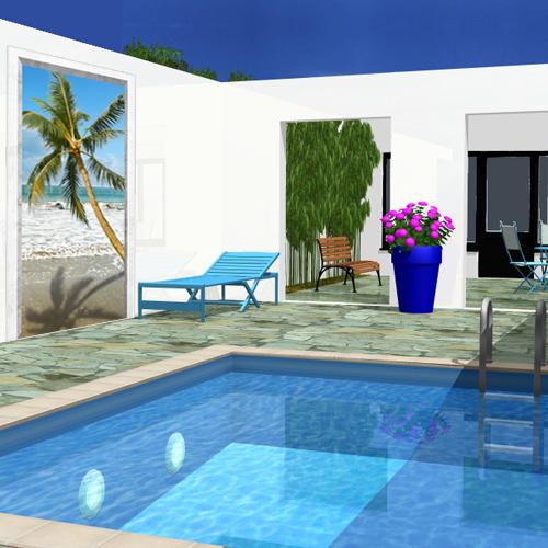 Deco blog creamint for Decoration exterieur pour piscine