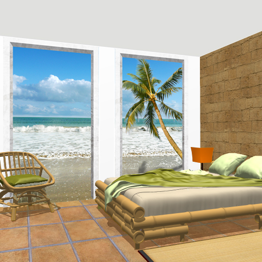 Deco chambre decors arcades ocean for Decoration chambre ocean