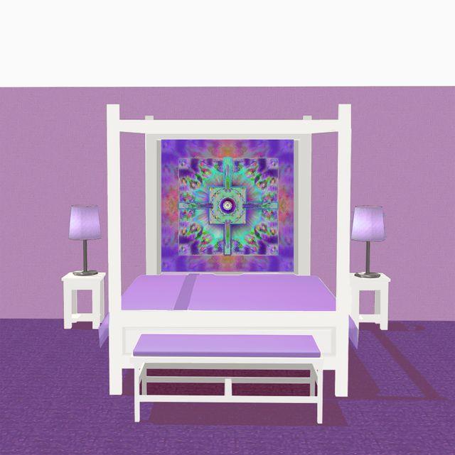 Table De Salon Moderne Blanc : Deco Chambre Mandala violet 13