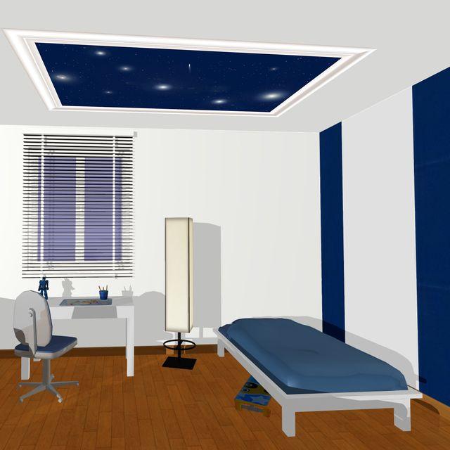 Deco chambre decor de plafond etoile filante - Plafond chambre etoile ...