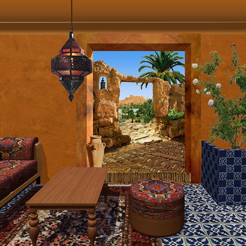 Trompe l oeil salon marble decoration and trompe loeil paintings from salon of venus papier - Trompe l oeil salon ...