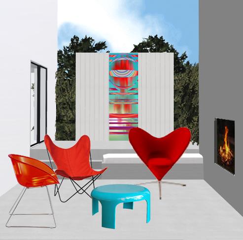 d cor ext rieur design sur la terrase. Black Bedroom Furniture Sets. Home Design Ideas