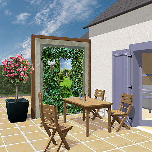 D cor ext rieur coupe vent ou pare vue for Decoration mur de terrasse