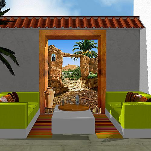 d cor ext rieur ambiance orientale sur la terrasse. Black Bedroom Furniture Sets. Home Design Ideas