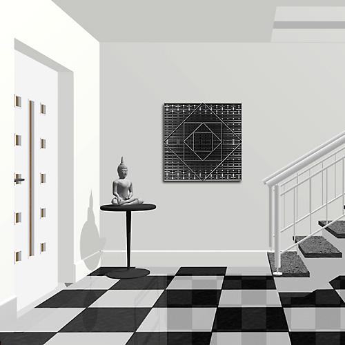 Deco noir et blanc tableau skott - Tableau noir et blanc design ...