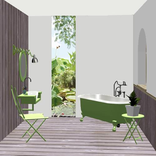 Salle d'eau jardin